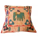 """Vintage Handmade Indian Cotton Cushion Pillow Cover Patchwork 16"""" Home Decor"""
