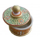 Handmade Decorative Indian Hand Painted Marble Box With Gold Work